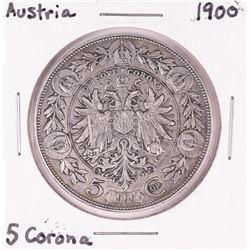 1900 Austria 5 Corona Silver Coin