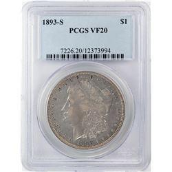 1893-S $1 Morgan Silver Dollar Coin PCGS VF20