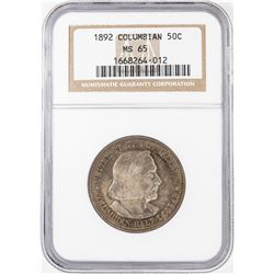 1892 Columbian Centennial Commemorative Half Dollar Coin NGC MS65