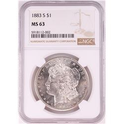 1883-S $1 Morgan Silver Dollar Coin NGC MS63