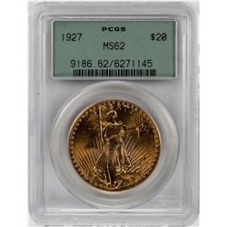 1927 $20 St. Gaudens Double Eagle Gold Coin PCGS MS62 Old Green Holder