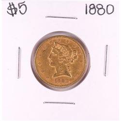 1880 $5 Liberty Head Half Eagle Gold Coin