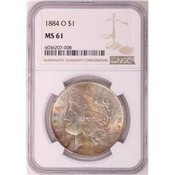 1884-O $1 Morgan Silver Dollar Coin NGC MS61 Great Toning