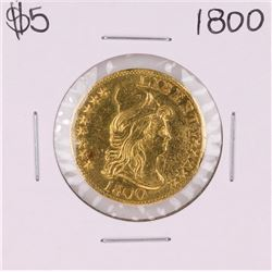 1800 $5 Draped Bust Half Eagle Gold Coin