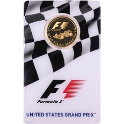 2016 $25 Proof Solomon Islands Formula One United States Grand Prix Gold Coin