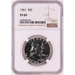 1961 Proof Franklin Half Dollar Coin NGC PF69