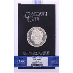 1879-CC $1 Morgan Silver Dollar Coin GSA Hoard Uncirculated NGC MS62 w/Box