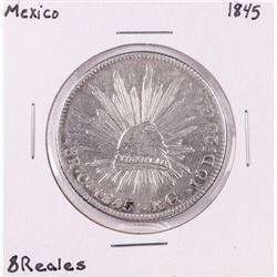 1845 Mexico 8 Reales Silver Coin
