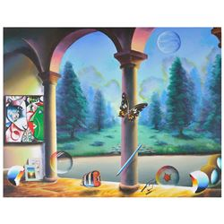 "Ferjo ""Garden Fantasies"" Original Oil On Canvas"
