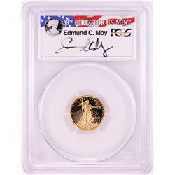 2015-W $5 Proof American Gold Eagle Coin PCGS PR70DCAM Moy Signature FDOI Denver