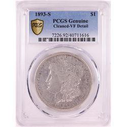 1893-S $1 Morgan Silver Dollar Coin PCGS VF Detail