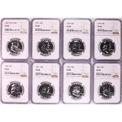 1956-1963 Proof Franklin Half Dollar Coins NGC PF68