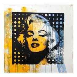 "Gail Rodgers ""Marilyn Monroe"" Original Mixed Media On Canvas"