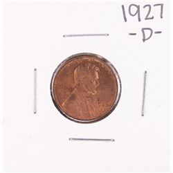 1927-D Lincoln Wheat Cent Coin