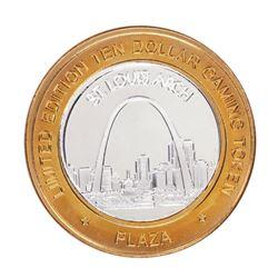 .999 Fine Silver Plaza Casino Las Vegas, NV $10 Limited Edition Gaming Token