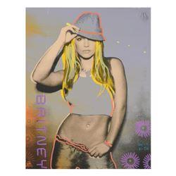 """Ringo"" Daniel Funes ""Brittney"" Original Mixed Media On Canvas (Warhol Protégé)"