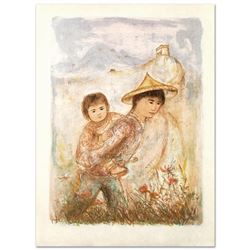 """Edna Hibel (1917-2014) """"The Great Wall"""" Limited Edition Lithograph"""