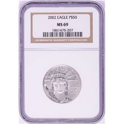 2002 $50 Platinum American Eagle Coin NGC MS69