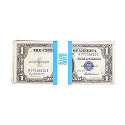 Lot of (100) 1935A-H $1 Silver Certificate Notes