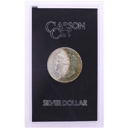 1884-CC $1 Morgan Silver Dollar Coin GSA Hoard w/Box Nice Toning