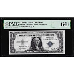 1935A $1 Silver Certificate STAR Note Fr.1608* PMG Choice Uncirculated 64EPQ