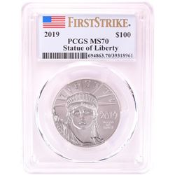 2019 $100 Platinum American Eagle Coin PCGS MS70