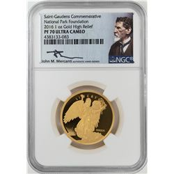 2016 Saint-Gaudens Commemorative High Relief Gold Coin NGC PF70 Ultra Cameo