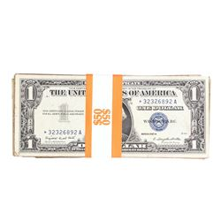 Lot of (50) 1957/A/B $1 Silver Certificate STAR Notes