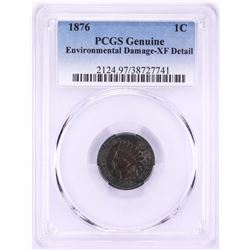 1876 Indian Head Cent Coin PCGS XF Details