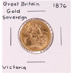 1876 Great Britain Sovereign Gold Coin