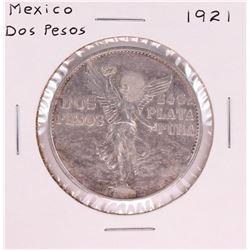 1921 Mexico Dos Pesos Silver Coin