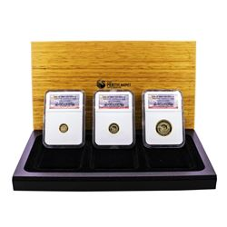 Set of 2008 Proof Australia Dolphin Gold Coin NGC PF70 Ultra Cameo w/Box