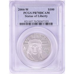2004-W $100 Proof Platinum American Eagle Coin PCGS PR70DCAM