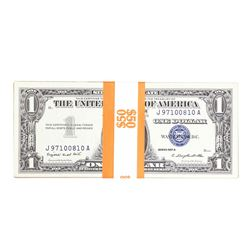 Lot of (50) 1957/A/B $1 Silver Certificate Notes
