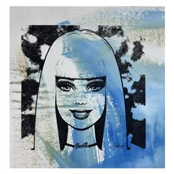 "Gail Rodgers ""Barbie"" Original Mixed Media On Canvas"
