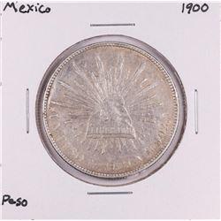 1900 Mexico Un Pesos Silver Coin
