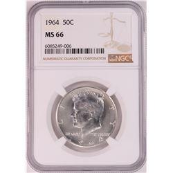 1964 Kennedy Half Dollar Coin NGC MS66