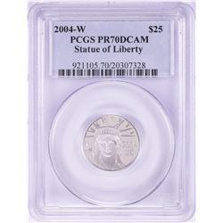 2004-W $25 Proof Platinum American Eagle Coin PCGS PR70DCAM