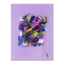 """George Marlowe """"Lilac Fantasy"""" Original Acrylic On Canvas"""