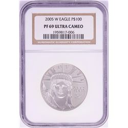 2005-W $100 Proof Platinum American Eagle Coin NGC PF69 Ultra Cameo