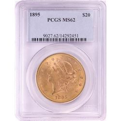1895 $20 Liberty Head Double Eagle Gold Coin PCGS MS62