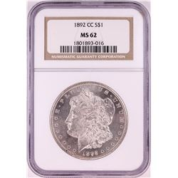 1892-CC $1 Morgan Silver Dollar Coin NGC MS62