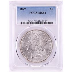1899 $1 Morgan Silver Dollar Coin PCGS MS62