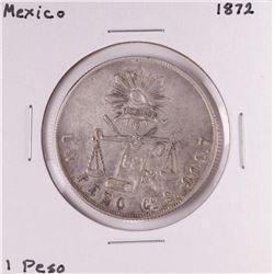 1872 Mexico Un Peso Silver Coin