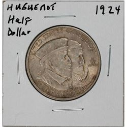 1924 Huguenot-Walloon Tercentenary Commemorative Half Dollar Coin