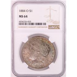 1884-O $1 Morgan Silver Dollar Coin NGC MS64 Great Toning