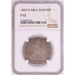 1853-O Seated Liberty Half Dollar Coin NGC F12