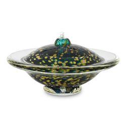 """Gartnerblade """"Large Saturn Oil Lamp"""" Hand Blown Glass Sculpture"""