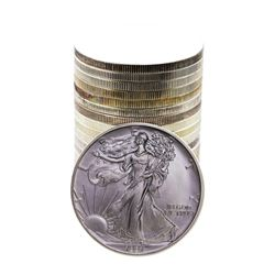 Roll of (20) Brilliant Uncirculated 1991 $1 American Silver Eagle Coins
