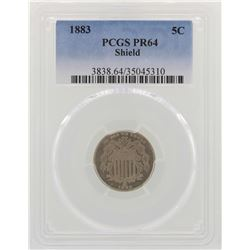 1883 Shield Nickel Proof Coin PCGS PR64